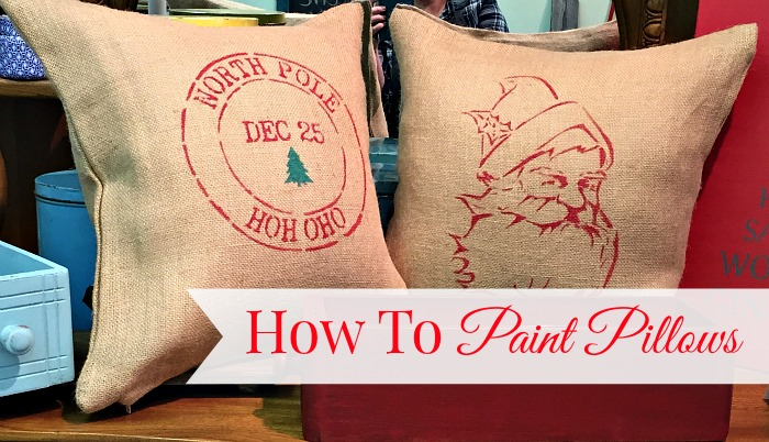How to Paint Christmas Pillows by Front Porch Mercantile