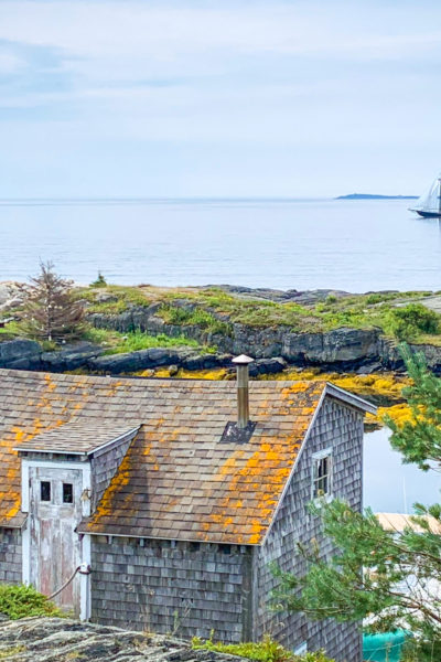 Sail By The Bluenose II sailing by the picturesque village of Blue Rocks photo by John Batten