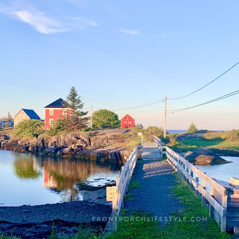 the Jesse Stone House - let's cross the bridge Front Porch Lifestyle
